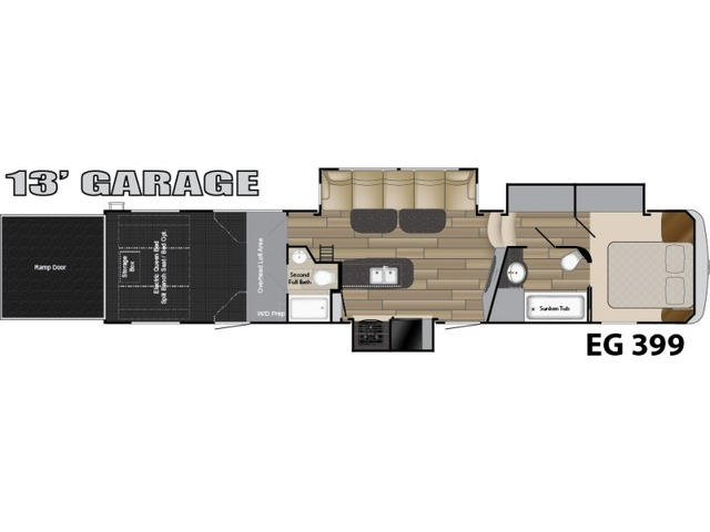 Edge Toy Hauler (Fifth Wheel) Model ED 399 by Heartland Floorplan