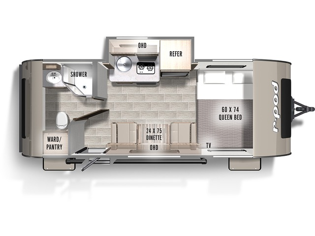 R-Pod Travel Trailer Model 180 by Forest River Floorplan