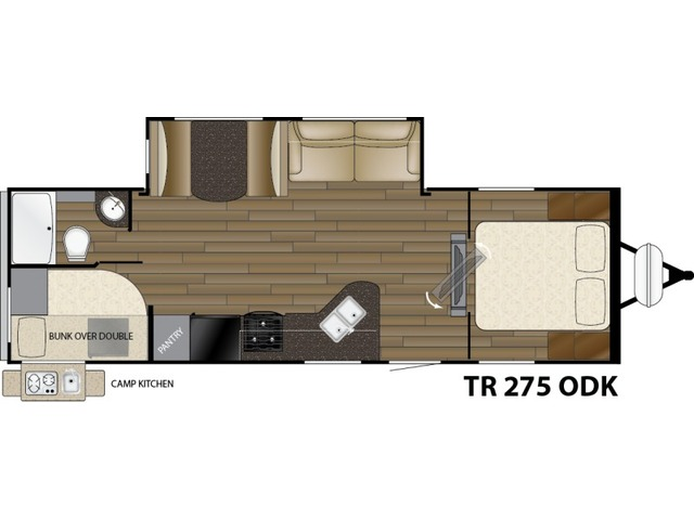 Trail Runner Travel Trailer Model 275ODK by Heartland Floorplan