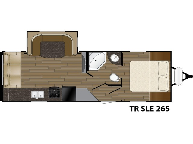 Trail Runner SLE Travel Trailer Model 265SLE by Heartland Floorplan