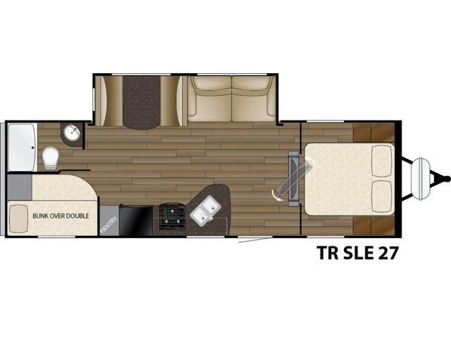 Trail Runner SLE Travel Trailer Model 27SLE by Heartland Floorplan