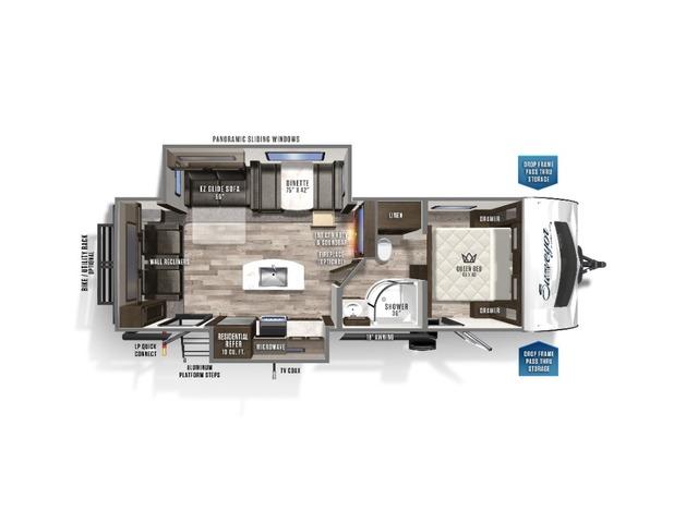 Surveyor Luxury Travel Trailer Model 266RLDS by Forest River Floorplan