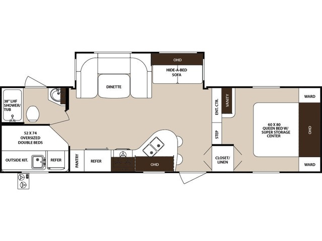 Surveyor Fifth Wheel Model 275BHSS by Forest River Floorplan