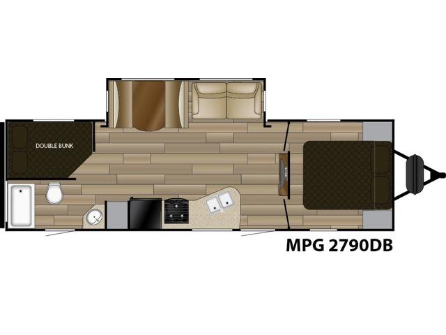 MPG Travel Trailer Model 2790DB by Cruiser RV Floorplan