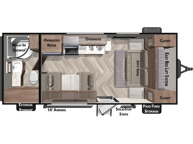 Cruise Lite Travel Trailer Model 171RB by Forest River Floorplan