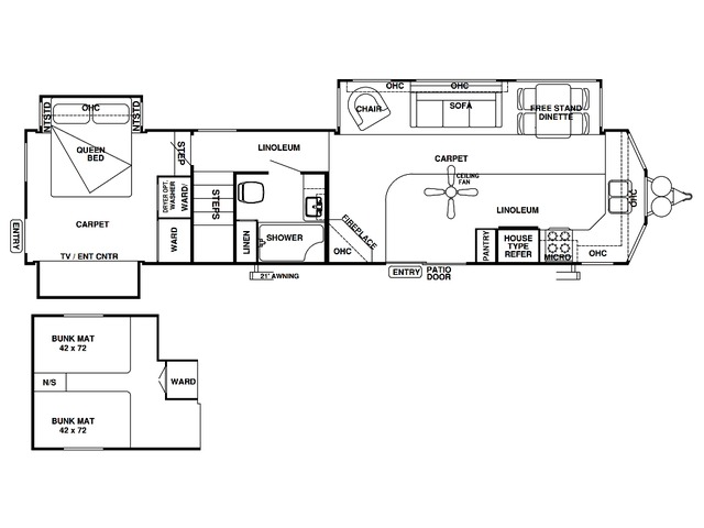Salem Villa Estate Park Trailer Model 4102BFK by Forest River Floorplan