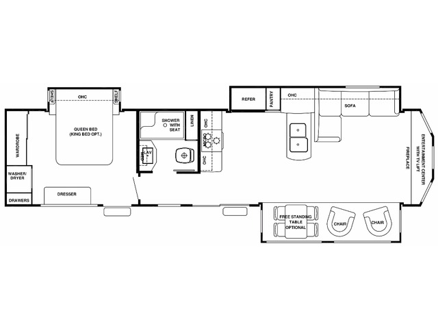 Cottage Park Trailer Model 40CFE2 by Forest River Floorplan
