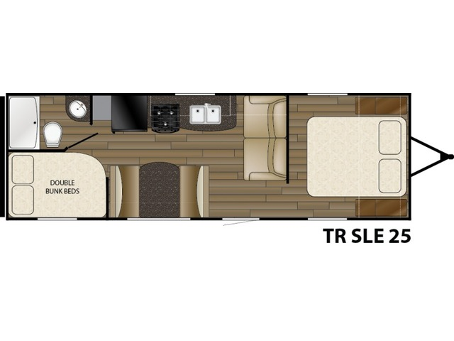 Trail Runner SLE Travel Trailer Model 25SLE by Heartland Floorplan