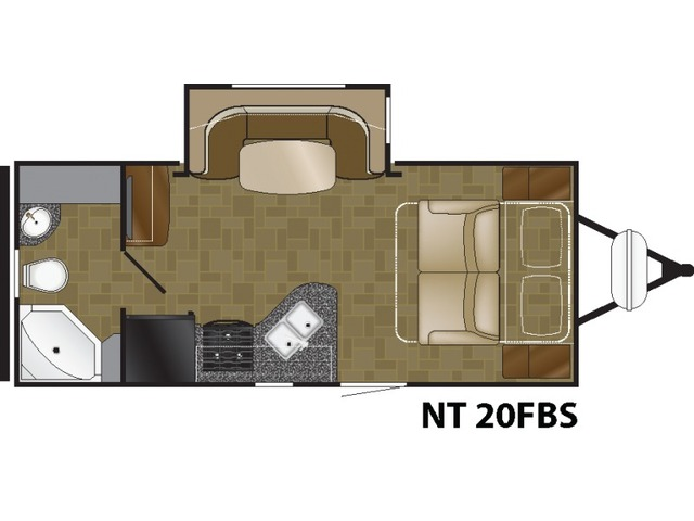 North Trail Travel Trailer Model 20FBS by Heartland Floorplan