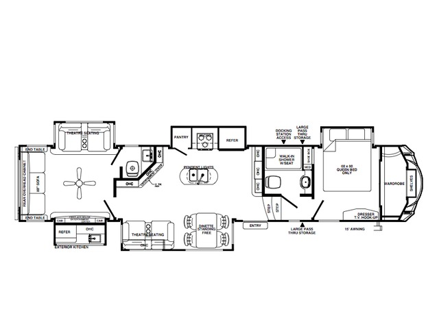 Sierra Fifth Wheel Model 387MKOK by Forest River Floorplan
