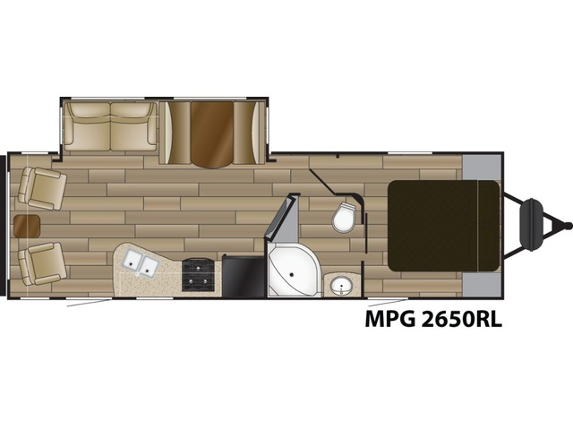 MPG Travel Trailer Model 2650RL by Cruiser RV Floorplan