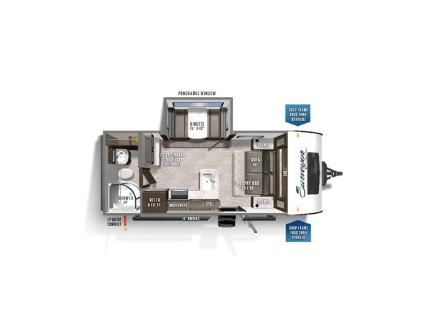 Surveyor Legend Travel Trailer Model 200MBLE by Forest River Floorplan