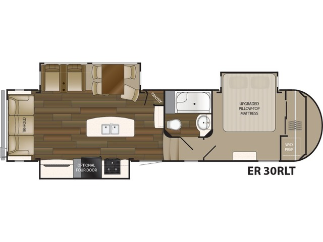 Elkridge Fifth Wheel Model 30RLT by Heartland Floorplan