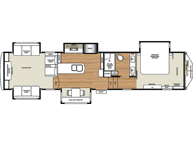 Riverstone Legacy Fifth Wheel Model 38RE by Forest River Floorplan