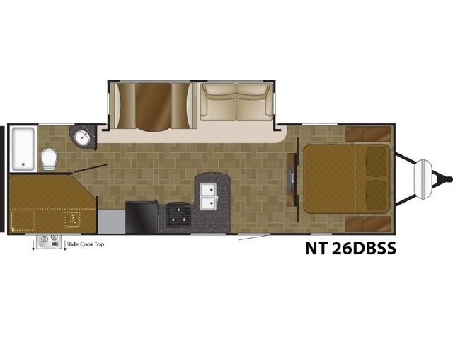 North Trail Travel Trailer Model 26DBSS by Heartland Floorplan