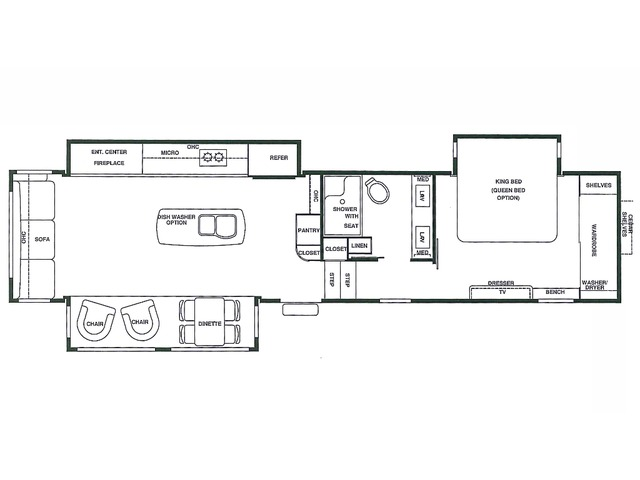 Riverstone Legacy Fifth Wheel Model 38MB by Forest River Floorplan