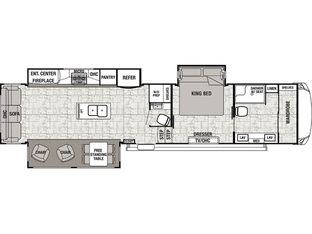 Cedar Creek Fifth Wheel Model 38FBD by Forest River Floorplan