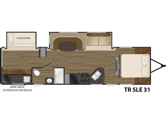 Trail Runner SLE Travel Trailer Model 31SLE by Heartland Floorplan