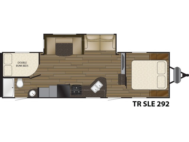 Trail Runner SLE Travel Trailer Model 292SLE by Heartland Floorplan