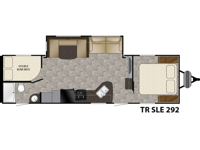 Trail Runner SLE Travel Trailer Model 292SLE by Heartland Floorplan