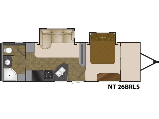 North Trail Travel Trailer Model 26BRLS by Heartland Floorplan