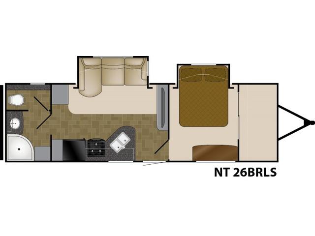 North Trail Travel Trailer Model 26BRLS by Heartland Floorplan