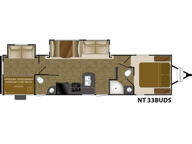 North Trail Travel Trailer Model 33BUDS by Heartland Floorplan