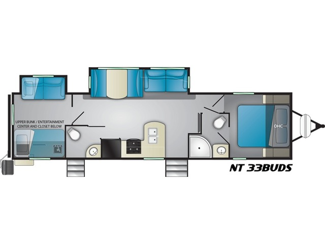 North Trail Travel Trailer Model 33BUDS by Heartland Floorplan