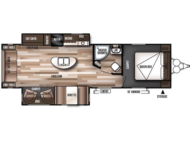 Salem Travel Trailer Model 27REIS by Forest River Floorplan