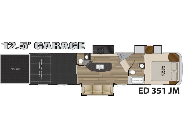 Edge Toy Hauler (Fifth Wheel) Model ED 351 by Heartland Floorplan