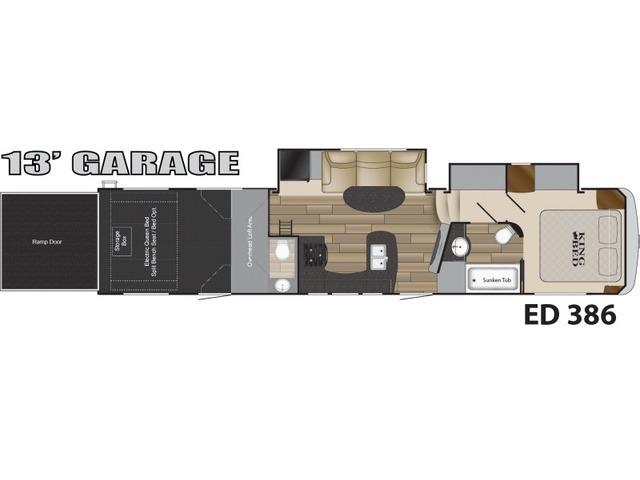 Edge Toy Hauler (Fifth Wheel) Model ED 386 by Heartland Floorplan