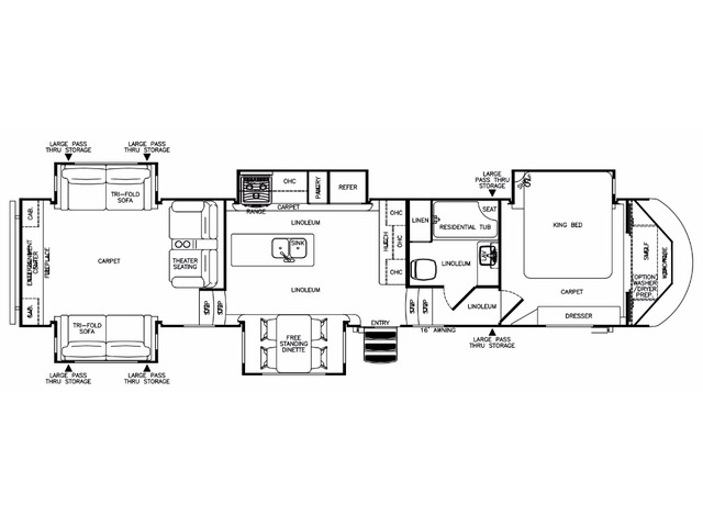 Hemisphere Fifth Wheel Model 372RD by Forest River Floorplan