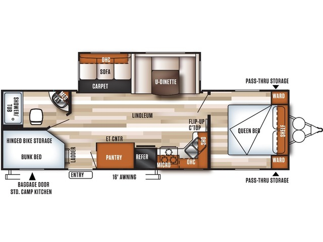 Salem Travel Trailer Model 27DBK by Forest River Floorplan