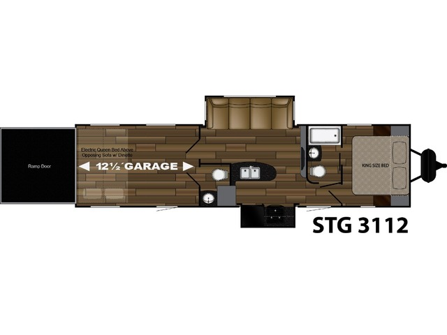 Stryker Toy Hauler (Travel Trailer) Model STG-3112 by Cruiser RV Floorplan