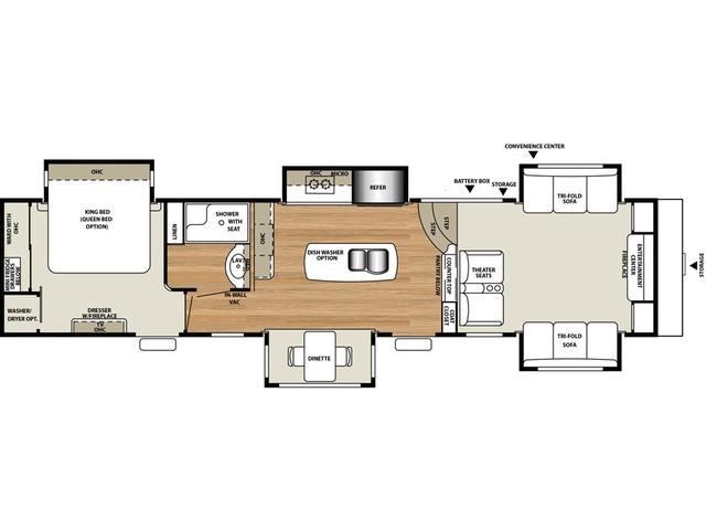 Riverstone Fifth Wheel Model 39FL by Forest River Floorplan