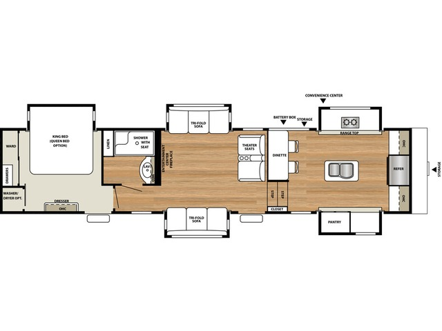 Riverstone Fifth Wheel Model 39FK by Forest River Floorplan