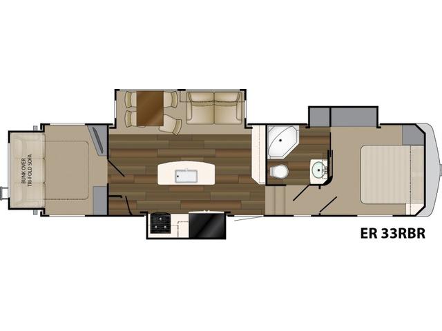 Elkridge Fifth Wheel Model 33RSR by Heartland Floorplan