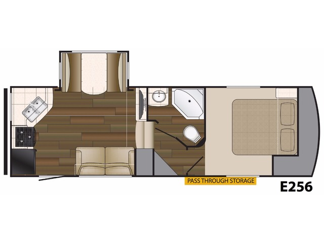 Elkridge Light Fifth Wheel Model E256 by Heartland Floorplan
