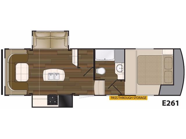 Elkridge Light Fifth Wheel Model E261 by Heartland Floorplan