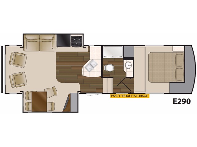 Elkridge Light Fifth Wheel Model E290 by Heartland Floorplan