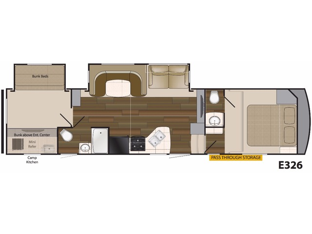 Elkridge Light Fifth Wheel Model E326 by Heartland Floorplan