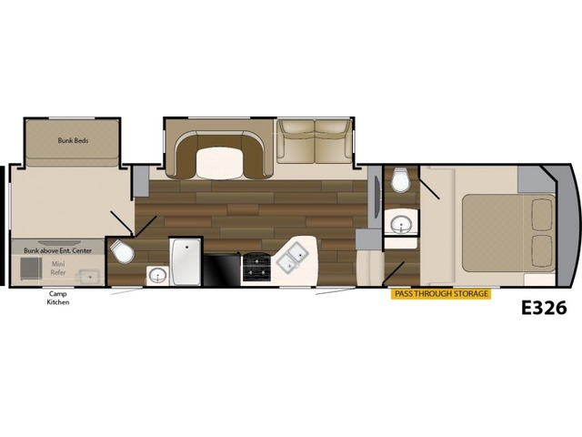 Elkridge Xtreme Light Fifth Wheel Model E326 by Heartland Floorplan