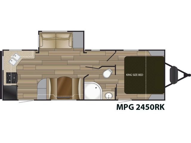 MPG Travel Trailer Model 2450RK by Cruiser RV Floorplan