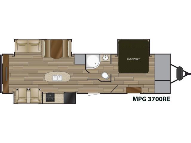 MPG Travel Trailer Model 3700RE by Cruiser RV Floorplan