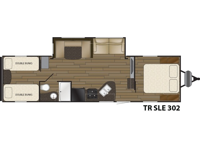 Trail Runner SLE Travel Trailer Model 302SLE by Heartland Floorplan