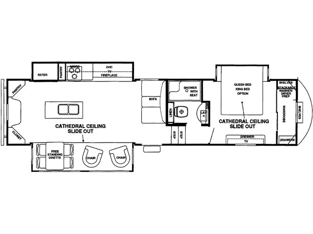 Silverback Fifth Wheel Model 33RK by Forest River Floorplan