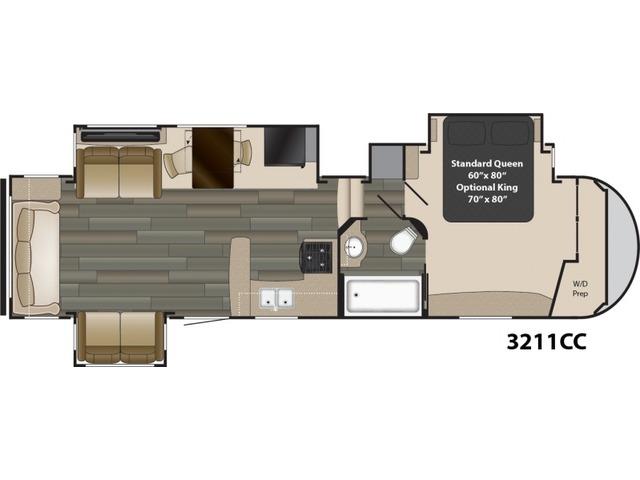Gateway Fifth Wheel Model 3211CC by Heartland Floorplan
