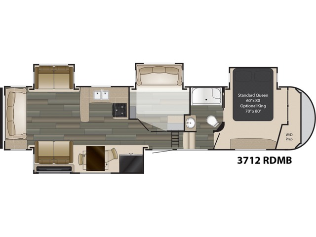 Gateway Fifth Wheel Model 3712RDMB by Heartland Floorplan