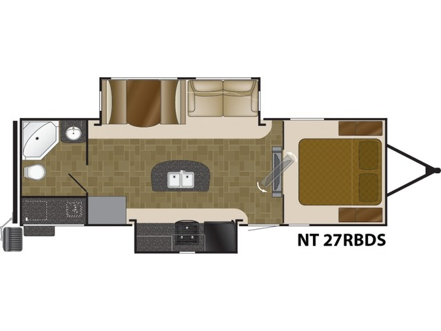 North Trail Travel Trailer Model 27RBDS by Heartland Floorplan