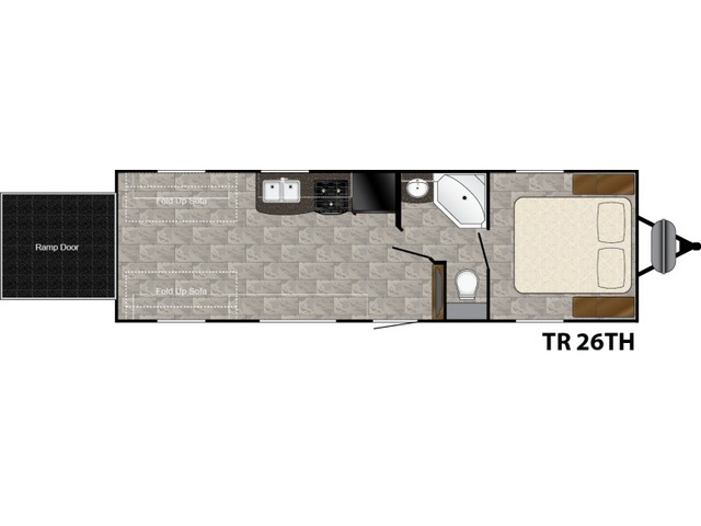 Trail Runner Travel Trailer Model 26TH by Heartland Floorplan